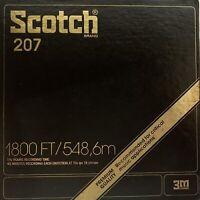"Scotch 207 Mastering Reel Tape, LP, 7"" Reel, 1800 ft, Refurbished, Plastic Box"
