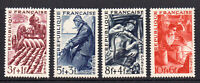 France Set of 4 Stamps c1949 Unmounted Mint Never Hinged (8535)