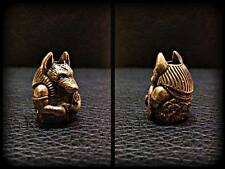*Egypt God Anubis* HANDMADE Bronze Paracord Knife Leather Lanyard Bead / Beads