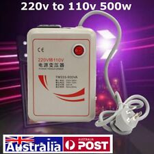AU 220V to 110V 500W Voltage Transformer Converter Step Down Device 50/60Hz Iron