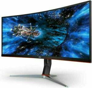 AOC CQ34G2E 34 inch Ultrawide Screen Curved LCD Monitor
