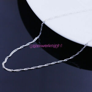 Beauty Simple 925Sterling Silver Wholesale Chains Necklace/Free Gift Box Jewelry