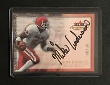 2000 Fleer Autographics GOLD /50 Mike Anderson Broncos Autograph On-Card Auto SP