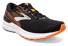 Brooks Adrenaline GTS 19 calzado para correr Mens, Negro/Naranja/Plata