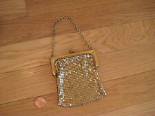 vintage Gold Mesh Flapper Purse evening bag handbag chainmail chain Classic 20's