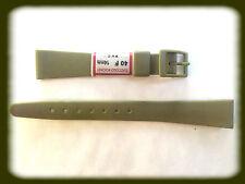BRACELET MONTRE PVC VERT KAKI /* MADE IN SUISSE 14 mm /* REF.V54