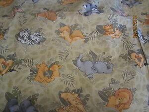 Baby animals tan baby toddler sheets set