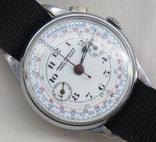 Girard Perregaux Chronograph wristwatch nickel chromiun case 37 mm. enamel dial