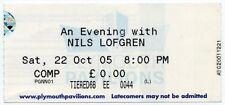 Nils Lofgren Plymouth Pavillions 22/10/05 Ticket #2 DEF