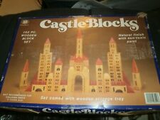 Vintage Chadwick Castle Wood Building Blocks *102 pc Set in Original Box 1980's