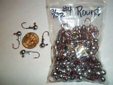 3/32oz #4 ROUND LEAD HEAD EAGLE CLAW - RED 100ct