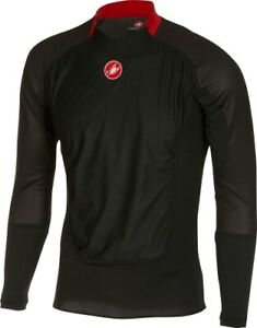 Castelli Men's Prosecco Wind Cycling Base Layer Black Size Large