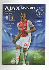 Orig.PRG   Champions League   2012/13   AJAX AMSTERDAM - REAL MADRID  !!  SELTEN