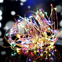 LED Draht Micro Batterie Lichterkette 10 LEDs 1m Farbe biegsam Mini Mikro LEDs