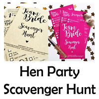 HEN PARTY SCAVENGER HUNT - Hen Party Game - Team Bride Hen Party - Icebreaker