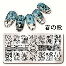 BORN PRETTY Nail Art Stamping Plates Sea Shell Starfish Design Image Templates