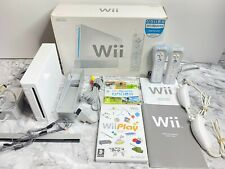 NINTENDO WII CONSOLE BUNDLE + OFFICIAL REMOTE'S + WII SPORTS & PLAY ((BOXED))