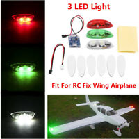 3pcs/set Aircraft Flash LED Wireless Light for RC Fix Wing Airplane Helicopter