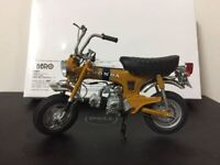 RARE Ebbro Bike 10006 Dax Honda ST50 1969 Gold 1:10 Scale Motorcycle Collection