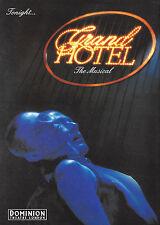 "Liliane Montevecchi ""GRAND HOTEL"" Brent Barrett 1992 London Souvenir Program"