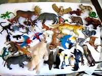 Large Lot of 47 Quality Toy Animal Play Figures.
