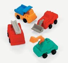 12 Construction Truck Erasers