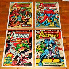 4x AVENGERS no.107 110 115 116 lot Marvel Comics 1973 JIM STARLIN SILVER SURFER