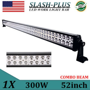 """52""""inch 300W LED Work Light Light COMBO Offroad Driving Truck SUV Tractor GMC"""