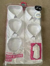 5 pack white short sleeve school shirts age 5-6
