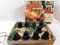 Vintage Carolites 9 Musical Bells Christmas Light Strand HONG KONG In Orig Box