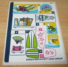 Lego Friend - 1x Aufkleben-Sticker Bogen für 41315
