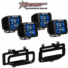 Rigid Radiance LED Fog Light w/ Blue Backlight for 10-15 Dodge Ram 2500 3500