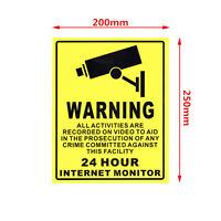 CCTV 20cm X 25cm Surveillance Security Camera Webcam Warning Sign Sticker Decal