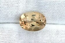 7.71 Carat 14x10 14mm x 10mm Oval Golden Topaz Gemstone Gem Stone GTA31