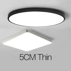 Ultra-thin LED Ceiling Light Modern Surface Mount Flush Panel Remote Living Room