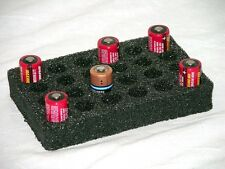 Custom foam cr123 cr2 battery holder storage insert fits Pelican ™ 1020 case