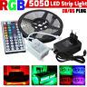 5M RGB 5050 Non Waterproof LED Strip light SMD W/ 44 Key Remote 12V Supply Power