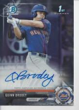 2017 Bowman Chrome Draft Quinn Brody RC AUTO Mets