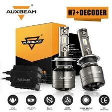 AUXBEAM H7 LED Headlights Bulbs HID Kit Super Bright Beam 70W 6500K With Decoder