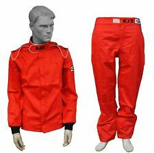 RJS RACING EQUIPMENT ELITE FIRE SUIT, 3-2A/1 2 PIECE RED,  MED LRG XL XXL 3X 4L