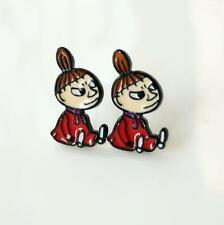 2pcs moomin littlemy sitting metal earring ear stud earrings studs unisex  new