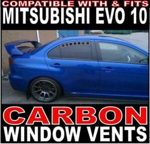 "Carbon Motorsport Window Vents ""Fits"" Mitsubishi Evo EVOLUTION 10 EVO X"