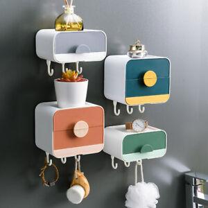 Soap Holder Dish Bathroom Shower Storage Box Wall Mount Jewellery Box Organizer