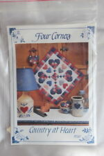 Heart Pieced Country Quilt Pattern Wallhanging New Uncut