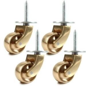 new LUXURY FINISH BRASS screw plate uk CASTORS WHEELS 25mm bestonlinebestshop