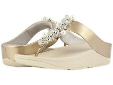 3d8367533421 Women s Shoes Fitflop Deco T-Strap Wedge Sandal N46-011 Silver ...
