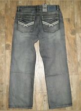 Men's Axel Relaxed Black Rock Straight Jeans Pants Size 30x30