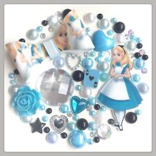 Disney Alice In Wonderland Bow Theme Gems & Pearls flatbacks Decoden & Crafts #3