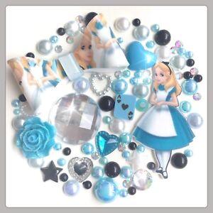 Disney Alice In Wonderland Bow Theme Gems & Pearls flatbacks Decoden & Crafts #3