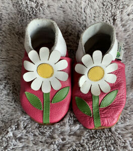 Baby Dinosaurs Soft Sole Leather Infant and Toddler Shoes 0-6 Months